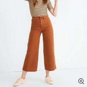 Madewell Emmett Wide-Leg Crop Pants 26 Warm Coffee